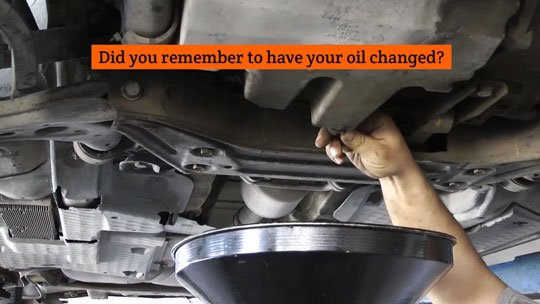 Change Oil Video Image